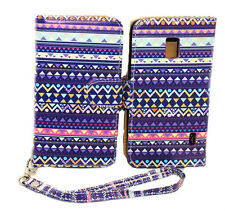 Stylish Tribal Design Wallet Leather Case for LG Optimus F6 D500 / MS500