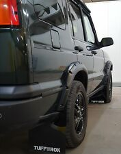 LandRover Discovery 2 Arch & attached MudFlap set 2004 gloss black tuff-rok