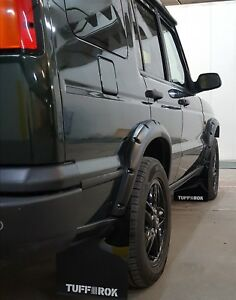 Land Rover Discovery 2 Arco Adjuntos Guardabarro Conjunto (X 4) Negro Tuff-rok