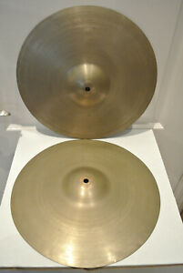 """SET of 50's ZILDJIAN 13"""" EXTREMELY LIGHT 497g/508g HI HAT CYMBALS or HATS! #G345"""