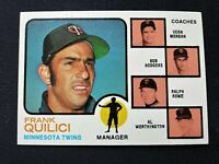 1973 Topps Baseball Card # 49 Quilici / Rowe / Morgan / Rodgers: Minnesota Twins
