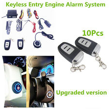 10x Auto SUV Alarm System Keyless Entry Engine Start Push Button Remote Starter