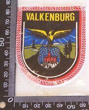 VINTAGE VALKENBURG LIMBURG EMBROIDERED SOUVENIR PATCH WOVEN CLOTH SEW-ON BADGE