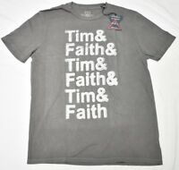 Lucky Brand T-Shirt Men Soul2Soul Tim & Faith Graphic Tee Grey Made In USA N838