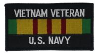 Navy Vietnam Veteran Ribbon 4 Inch Cap Hat Embroidered Patch HFL1210 F2D7G
