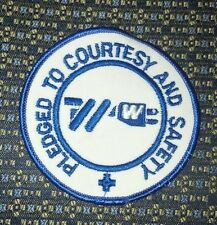 PLEDGED TO COURTESY AND SAFETY (ELECTRIC) PATCH