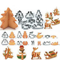 8pcs 3D Christmas Scenario Biscuit Cookie Cutter Set Stainless Steel Xmas Baking
