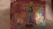 Princess 7 Gowns & Doll Set From Harbour Toys Fits 11 Inch Dolls Pink NEW t126b