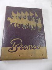 1943 Hardin Simmons University Yearbook Annual Abilene Texas Bronco Original