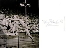More details for fanny blankers-koen legendary dutch olympic track & field athlete signed card.
