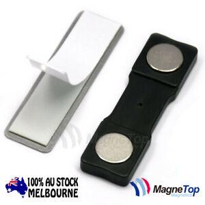 100x Mangetop Magnetics Name Tag Badge Magnet /w Adhesive 2MG2