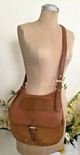 Longchamp Balzane Women Mustard Camel Suede Cross body Shoulder Bag France EC