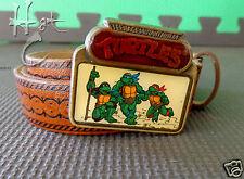 TMNT 3 Turtles Lee Leather Belt 1989 Teenage Mutant Ninja Turtles Kids Size L13