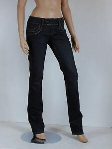 jeans noir femme GSUS ladies pants woven taille W 30 L 32 ( T 40 )
