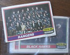 "(13) Hockey Insert Posters, 1980 Topps 5x7"" pictures of 1979-80 Teams"