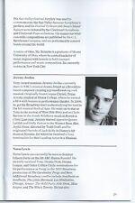 NEW YORK POPS Playbill STEPHEN SCHWARTZ (WICKED) Jeremy Jordan (SMASH)  [MINT