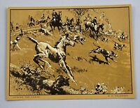 Vintage 1970's R.H. Palenske Joining The Chase Gold Foil Etch Print