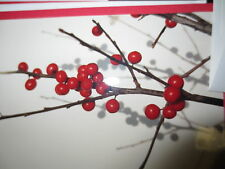 HANDCRAFTED HOLLY BERRY AND CHRISTMAS GREENS LOT/5 CHRISTMAS CARDS NEW