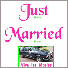 autocollant stickers déco voiture mariage JUST MARRIED