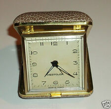 Vintage Westclox Travel Alarm Clock Leopard Print Case Works Great