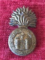 Royal Inniskilling Glengarry Grenade Brass Cap Badge British Army Military 21/7