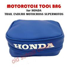 MOTORCYCLE TOOL BAG POUCH BLUE FOR HONDA XR CR models TRIALS ENDURO MX