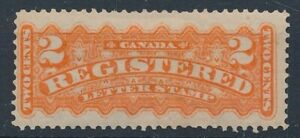 [56179] Canada Registered 1876 good MH Very Fine signed stamp $100
