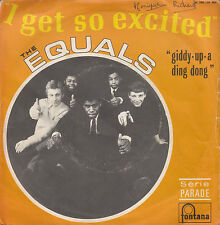 "7"" 45 TOURS FRANCE THE EQUALS ""I Get So Excited / Giddy-Up-A Ding Dong"" 1968"
