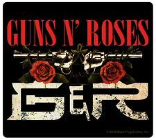 "Sticker Guns N' (and) Roses ""G&R"" Band Name & Logo Art Metal Rock Music Decal"