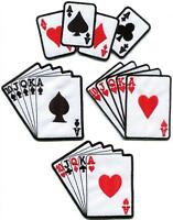 Playing cards royal flush poker ace applique iron-on patch new your choice PK-2
