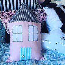 House Shape Cushion Pillow Decorative Baby Nursery Kids Bedroom Gift Monochrome