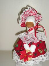 """Goose geese 11""""  Teen clothes Christmas red dress and hat outfit #212-25"""