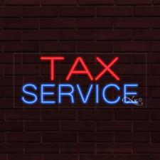 Brand New Tax Service 32x13x1 Inch Led Flex Indoor Sign 30299