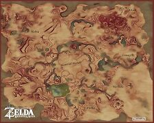 Zelda MAP - Breath of the wild  Wall Poster 30in x 24in - Beautiful HD MAP