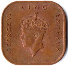 MALAYA, KING GEORGE VI. / 1 Cent, 1943 #WT2517