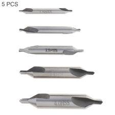 5× Center Drill Countersink Set Metalworking 60° Angle Bits Hss Lathe Mill Press