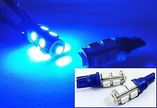 2x 9 SMD LED 194 For BMW Front Side Marker Light Blue T10 168 2825 W5W Wedge 161