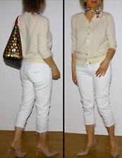 ZARA Strickjacke Pullover 100% Kaschmir Cashmere Creme Gr.M/L 38/