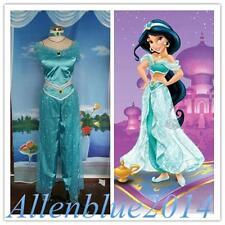 Aladdin Jasmine Princess Costume Cosplay Women Adult Garment Custom made New