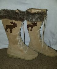Women's vintage MukLuk Eskimo brown  winter fur boots size 7.5