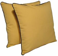 """D&M Polyester 18""""x18"""" Indoor/outdoor Decorative Throw Pillow, set of 2, Yellow"""