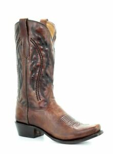 Corral Men's Cowboy Snip Toe Leather Western Boots Honey A3476