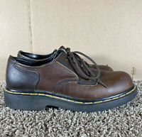 Doc Dr. Martens Brown Leather Lace Up Oxford Shoes AW004 Mens Size 7 (US)
