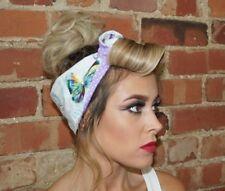 Butterfly Festival Pin up Rockabilly wide Reversible Wired Headband Headwrap