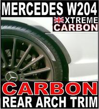 Mercedes C Class W204 Carbon 4pc Rear Arch Trim Flares C63 Style