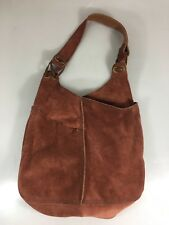 Lucky Brand Slow Ride Burgundy Suede Slouchy Shoulder Bag Handbag Vint Inspired