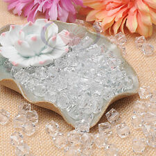 100pcs 10mm Clear Square Faceted Acrylic Crystal Spacer Beads Jewelry Finding S
