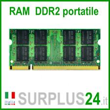 RAM 2GB DDR2 (1x 2GB) LAPTOP PC2-5300S 667Mhz SODIMM Notebook Portatile No Ecc
