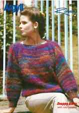 "AR994 LADIES MOHAIR SWEATER KNITTING PATTERN 28-40""/71-102cm"