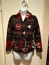 Ralph Lauren Sweatshirt Southwest Tribal Indian Cardigan Petite Small PS